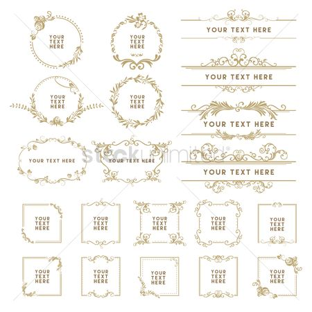 Borders : Collection of decorative frames