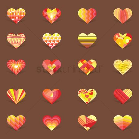 Heart : Collection of decorative heart design