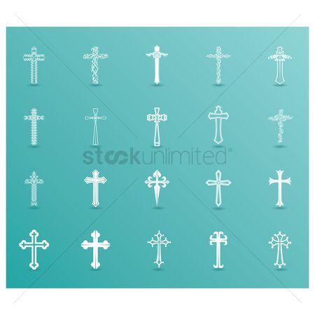 Cross : Collection of decorative holy cross