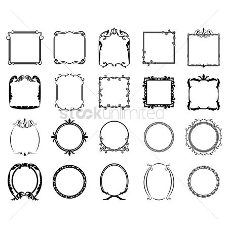 Classic : Collection of decorative retro frames