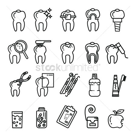 Health cares : Collection of dental icons