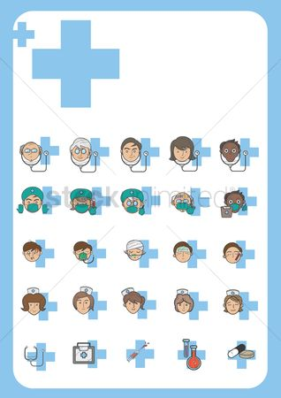Plus : Collection of different medical people