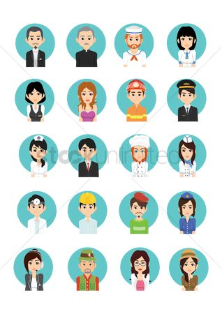 Doctor : Collection of different people icon