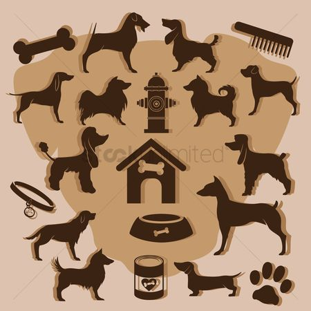 Supply : Collection of dog icons