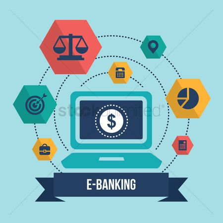 E commerces : Collection of e-banking icons
