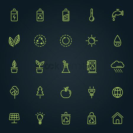 Charging icon : Collection of ecology icons