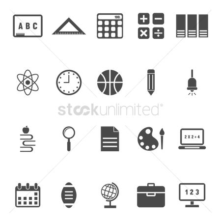 Calculations : Collection of education icons