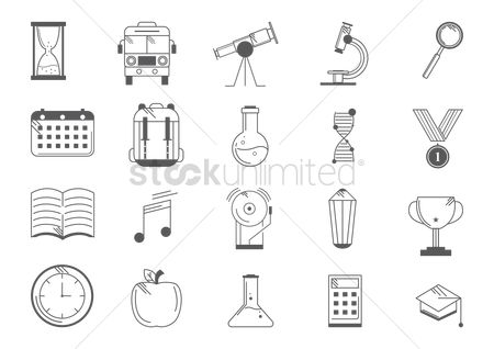 Dna : Collection of education icons