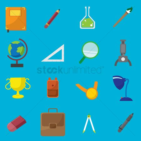 Laboratory : Collection of education related items