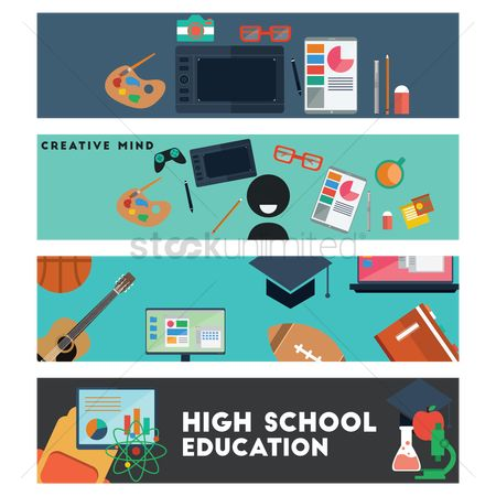Educational banner : Collection of educational banners