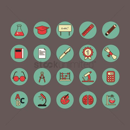 Palette : Collection of educational icons