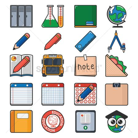 Pad : Collection of educational icons