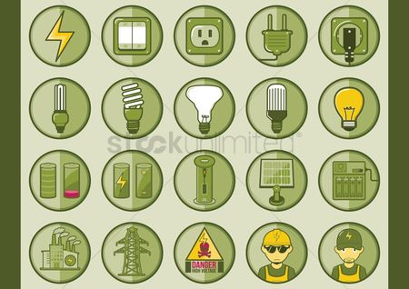 Filament : Collection of electric icons