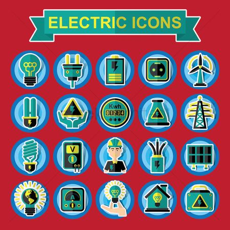 Meter : Collection of electrical icons