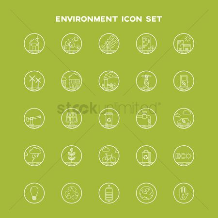 Faucets : Collection of environment icon set
