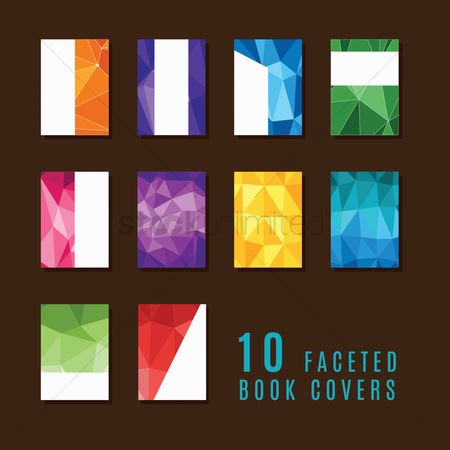 Gradient : Collection of faceted book covers