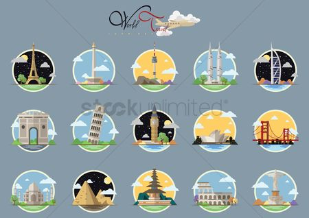 Towers : Collection of famous landmarks