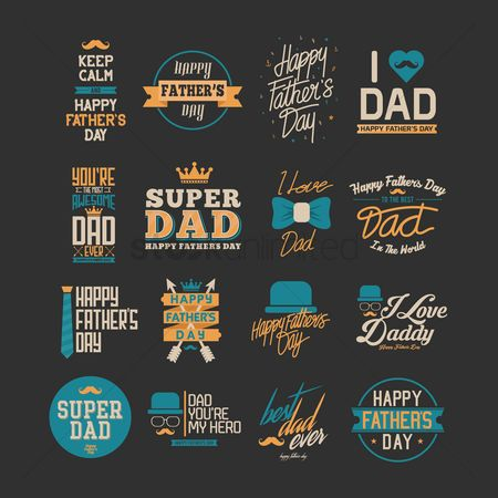 Hats : Collection of father s day greeting cards