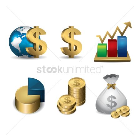 Increase : Collection of finance concept