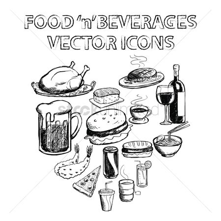 Junk food : Collection of food and beverages