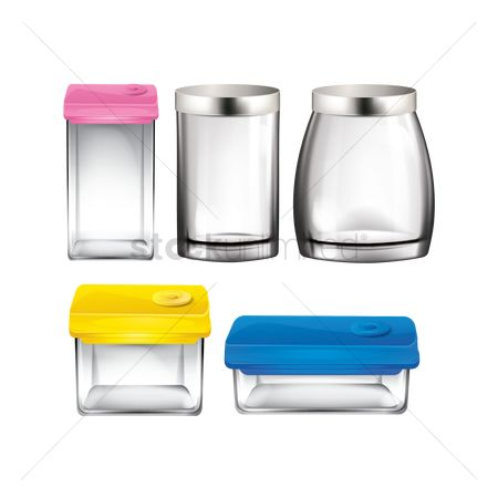Plastics : Collection of food containers