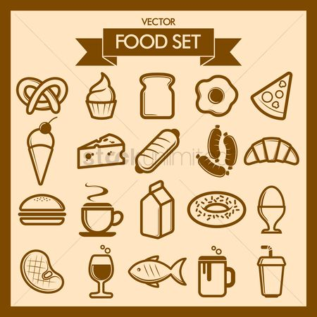 Confectionery : Collection of food icons