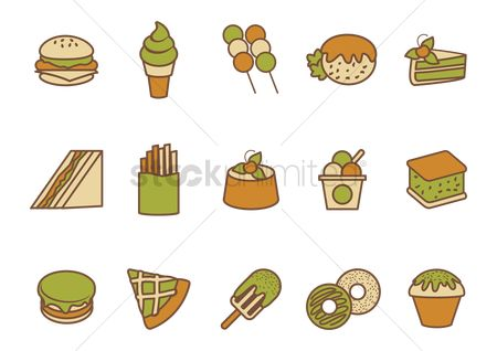 Macaron : Collection of food icons