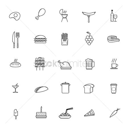 Fresh : Collection of food icons