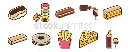 Confections : Collection of food icons