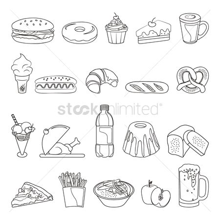 Croissants : Collection of food items