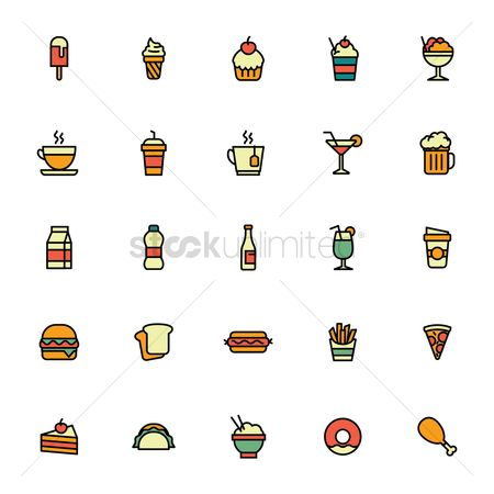 Beer mug : Collection of food items