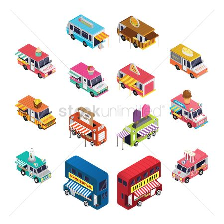 French : Collection of food trucks