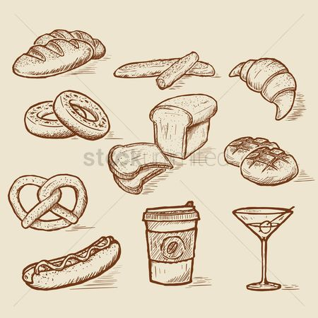 Croissants : Collection of food