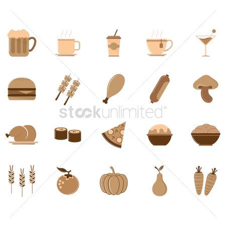 Coffee cups : Collection of food