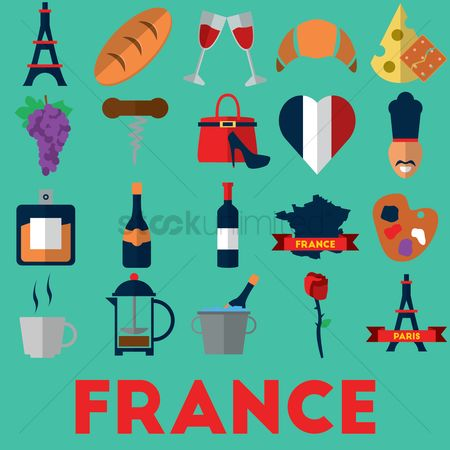 Croissant : Collection of france icons