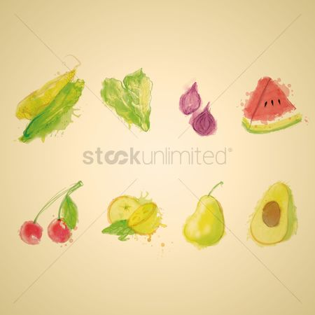 Watermelon : Collection of fruit and vegetable