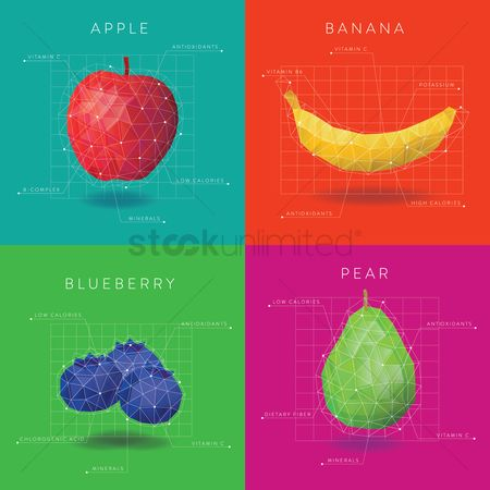 Bananas : Collection of fruit infographic