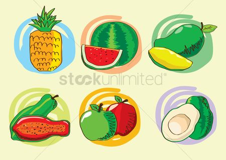 Mangoes : Collection of fruit