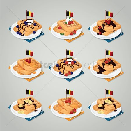 Belgium : Collection of gaufre