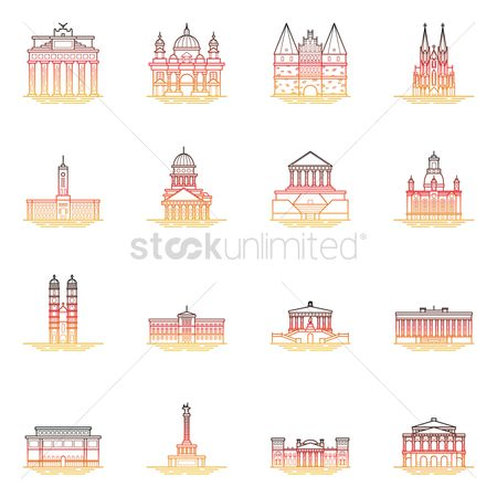 Monuments : Collection of germany landmarks