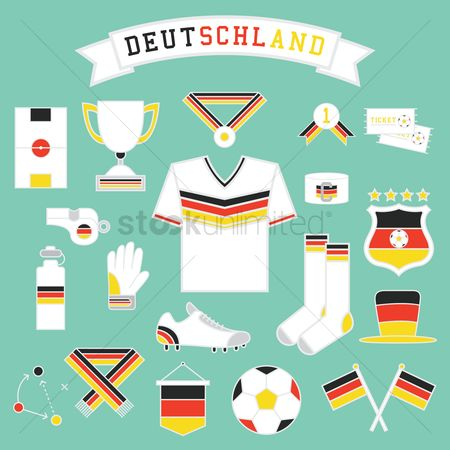 Soccer : Collection of germany soccer icons