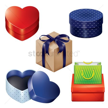 Heart shape : Collection of gift boxes