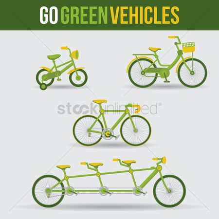 Clean : Collection of go green vehicles