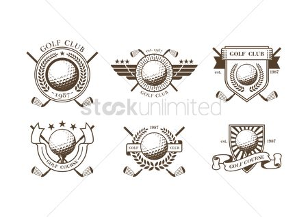 Laurel : Collection of golf club badges