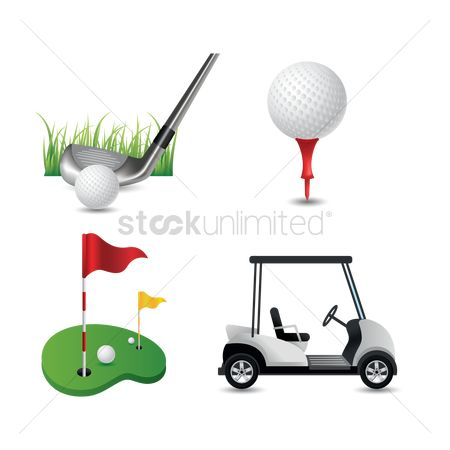 Cart : Collection of golf equipment
