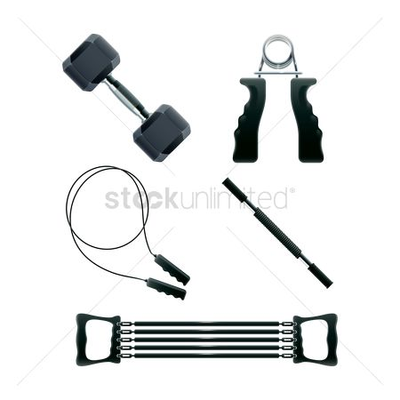 Power gym : Collection of gym equipment