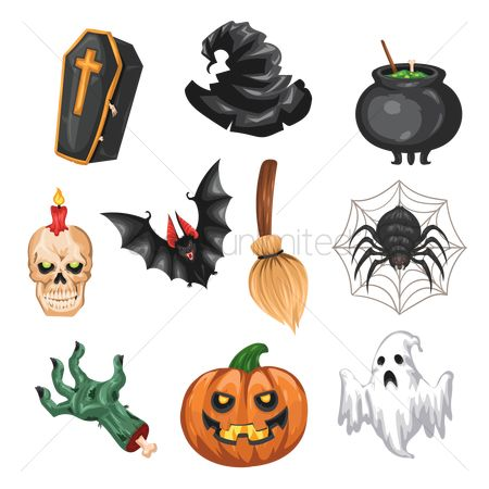 Broom : Collection of halloween items