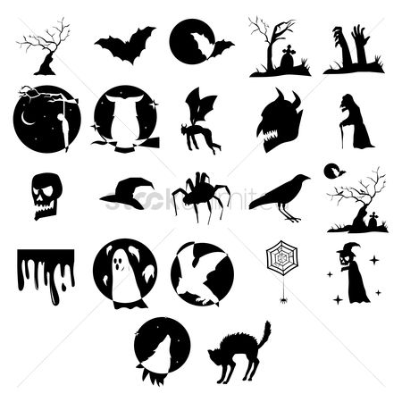 Owl : Collection of halloween silhouettes