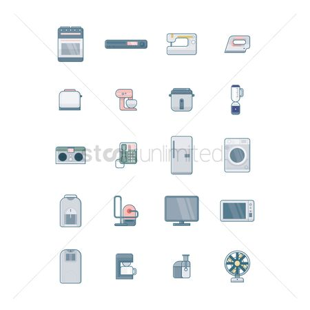 Appliances : Collection of home electrical appliances