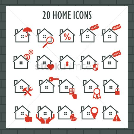 Map pointer : Collection of home icons